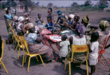 Democratic Republic of the Congo, women gathered at outdoor café