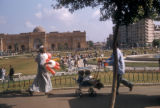 Cairo (Egypt), park in front of the Egyptian Museum