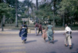 Democratic Republic of the Congo, people crossing street