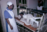 Nigeria, sick boy in body cast at Kano Orthopedic Hospital