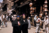 Cairo (Egypt), pedestrians on commercial street in the old city