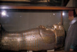 Cairo (Egypt), King Tut 's (Tutankhamun) coffin at the Egyptian museum