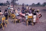 Democratic Republic of the Congo, people at outdoor café