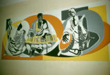 Mali, modern art depicting African life