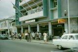 Nigeria, people outside Leventis supermarket in Lagos