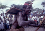 Democratic Republic of the Congo, shaman performing for crowd