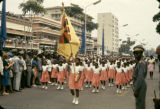 Democratic Republic of the Congo, girls marching in Independence Day parade