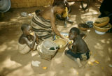 Democratic Republic of the Congo, family eating meal