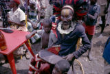 Democratic Republic of the Congo, shaman sitting with children