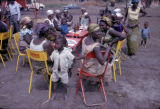Democratic Republic of the Congo, people gathered at outdoor café