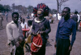 Democratic Republic of the Congo, shaman with men at gathering