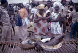Democratic Republic of the Congo, fish for sale at market