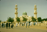 Nigeria, people outside gate of Central Mosque of Kano