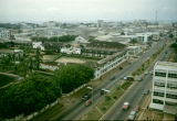 Ghana, bird's-eye view of Accra