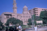 Cairo (Egypt), street scene in front of a mosque