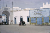 Tunisia, street scene in front of gate to Kairouan