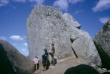Zimbabwe, tourists at top of acropolis of Great Zimbabwe