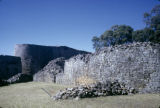 Zimbabwe, stone walls of temple at Great Zimbabwe
