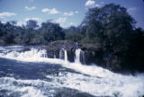 Zambia and Zimbabwe, Zambezi River rapids straddling the border