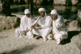 Tunisia, musicians playing music in Nefta desert oasis