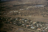 Africa, aerial view of town
