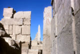 Luxor (Egypt), view of obelisk in temple of Karnak