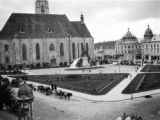 Romania, view of St. Michaels Chuch in Unirii Square (Union Square) in Cluj-Napoca