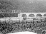 Romania, bridge crossing a river at the Rothenthurm Pass
