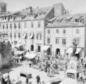 Croatia, view of market in Gundulic Square in Dubrovnik