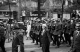 Germany, soldiers marching in procession for changing of the guard in Berlin