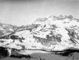 Switzerland, view of snow covered Alps in Engelberg