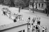 Germany, children walking in procession on day Chancellor Adolf Hitler became Führer