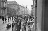 Germany, troops and crowd in Berlin awaiting procession with Adolph Hitler