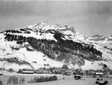 Switzerland, view of Alpine town in Engelberg