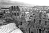 Greece, view of Athens from Acropolis and Theatre of Dionysus