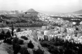 Greece, view of Mount Lycabettus and Acropolis of Athens