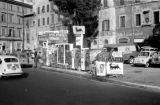 Italy, gas station along road in Rome