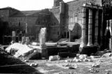 Italy, ruins of Temple of Mars Ultor at Forum of Augustus in Rome