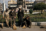 Istanbul (Turkey), street sweepers in Taksim Square