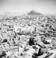 Athens (Greece), view of city and Mount Lycabettus in distance