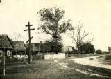 Belarus, Greek crosses along roadside