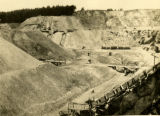 Poland, view of different levels of open-pit zinc mine