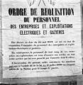 France, poster about requisition order in Paris