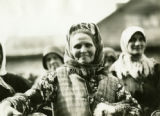 Belarus, close up of chicken vendor