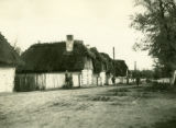 Poland, low view of road and houses