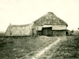 Belarus, barn and shed with thatched roof