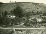 Ukraine, settlement on side of hill