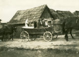 Ukraine, people in cart