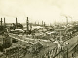 Poland, bird's eye view of oil refinery