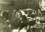 Ukraine, close up of woman at market